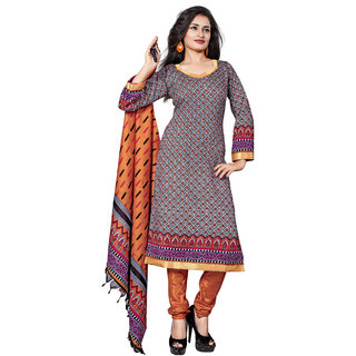 Lovely Look Multi Printed Un-Stitched Straight Suit LLKKFKPPH108