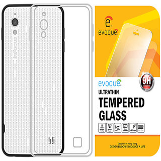 Evoque Transparent Back Cover For Infocus M370 With Tempered Glass