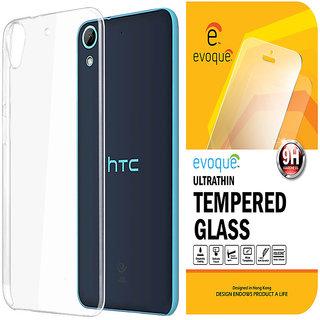 Evoque Transparent Back Cover for HTC Desire 820Q