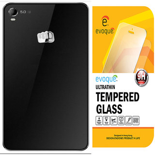 Evoque Transparent Back Cover For Micromax Canvas Fire 2 A104 With Tempered Glass