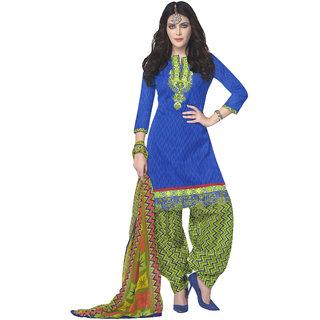 899952fda0 Parisha Blue Brocade Embroidered Salwar Suit Dress Material (Unstitched)
