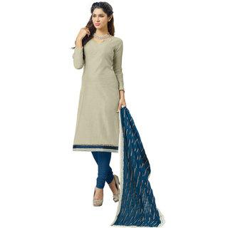 Parisha Gray Chanderi Plain Kurta & Churidar Dress Material (Unstitched)