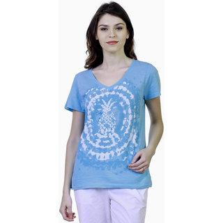 Caribbean Joe Womens Pinapple Graphic T-Shirt