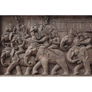 Walls and Murals Ceremonial Parade on Birth of Buddha Canvas Print  No Frame (16 x 24 Inch)