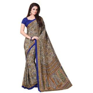 Fabnil Multi Coloured Crepe Printed Saree/Sari