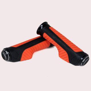 Capeshoppers  Orange Bike Handle Grip For Bajaj DISCOVER DTSI
