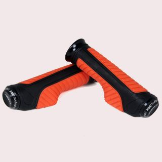 Capeshoppers  Orange Bike Handle Grip For Hero MotoCorp Splendor Pro