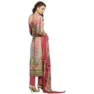 Khushi Trendz Faux Georgette Pink Se Stitched Salwar Suit