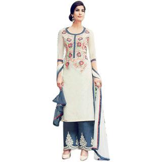 Khushi Trendz Cotton Satin Gold Se Stitched Salwar Suit