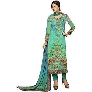 Khushi Trendz Faux Georgette Green Se Stitched Salwar Suit