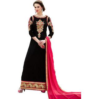 Khushi Trendz Bhagalpuri Silk Black Se Stitched Salwar Suit