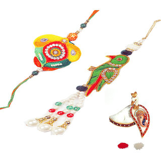 Bhaiya Bhabhi Pearl Rakhi Design By Shreeng