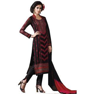 Khushi Trendz Georgette Black Semi Stitched Salwar Suit