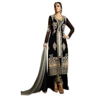 Khushi Trendz Georgette Black Se Stitched Salwar Suit