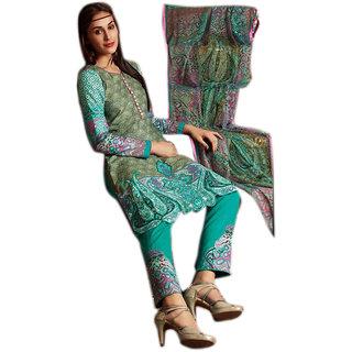 Khushi Trendz Original Lawn Green Se Stitched Salwar Suit