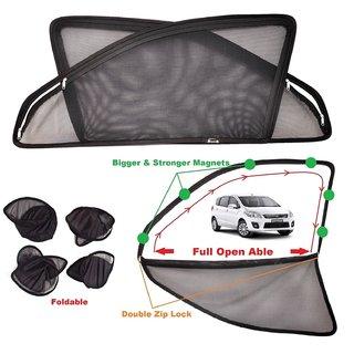 Car Craft Full Open Able Zipper Magnetic And Foldable Sunshade / Sun Shade / Curtain For Maruti Suzuki Ertiga - Set Of 6