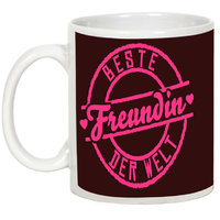 Friendship Day Gifts - AllUPrints Best Friends In The World White Ceramic Coffee Mug - 11oz