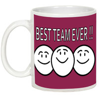 Friendship Day Gifts - AllUPrints Best Team Ever White Ceramic Coffee Mug - 11oz
