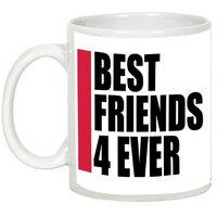Friendship Day Gifts - AllUPrints Best Friends Are 4 Ever White Ceramic Coffee Mug - 11oz
