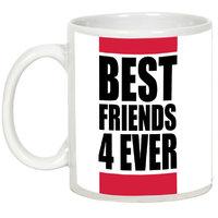 Friendship Day Gifts - AllUPrints Best Friends Stay Forever White Ceramic Coffee Mug - 11oz
