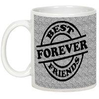 Friendship Day Gifts - AllUPrints Forever Best Friends White Ceramic Coffee Mug - 11oz