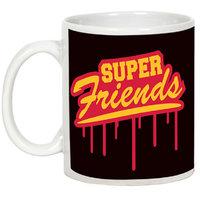 Friendship Day Gifts - AllUPrints You Are My Super Friend White Ceramic Coffee Mug - 11oz
