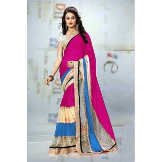 Shree FashionMultiGeorgetteSaree (Rtc Mfg 276)