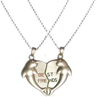 Men Style New Fish and  Heart Style Couple Best Friend  Mangnetic  Brown  Stainless Steel Heart Pendent For Men And Boys