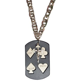 Men Style Jesus Christ Cross With Card  Black  Stainless Steel Card Pendent For Men And Boys