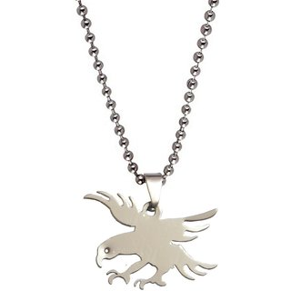 Men Style 32 mm Flying Eagle Charm   Silver  Stainless Steel  Pendent For Men And Boys