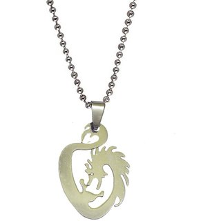 Men Style Tribal Dragon  Silver  Stainless Steel Dragon Pendent For Men And Women