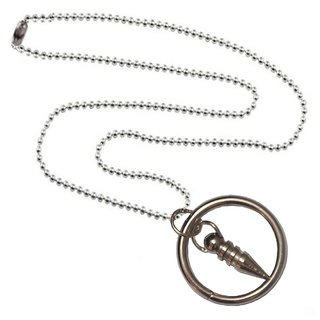 Men Style Ring And Bullet   Silver  Alloy Ring Shape Pendent For Men And Women