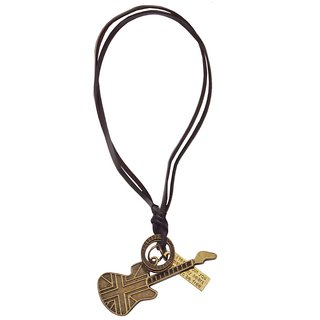 Men Style Antique Fashion Guitar Cross  Bronze  Zinc Alloy Guitar And Jesus Cross Pendent For Men And Women