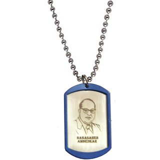 Men Style Dr.Babasaheb Ambedkar  Silver  Stainless Steel Frame Type Pendent For Men And Boys