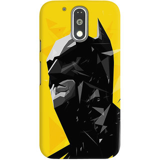 Dreambolic A Batman With Yellow Background Graphic Back Covers