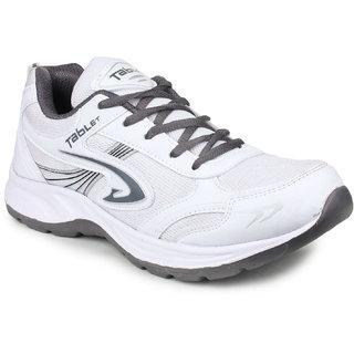 Columbus Men's Gray & White Training & Gym Shoes