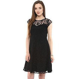 Zima Leto Lace Flare Dress