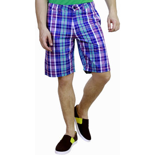 Caribbean joe Mens jake blue stripe short