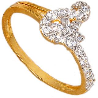 Maayra Grand American Diamond Wedding Free-size Finger Ring