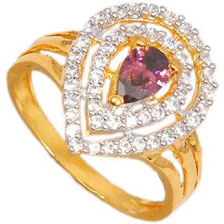 Maayra Graceful American Diamond Wedding Free-size Finger Ring