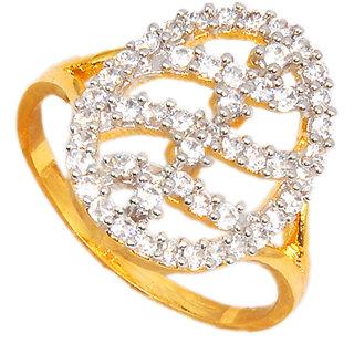Maayra Fashionable American Diamond Wedding Free-size Finger Ring