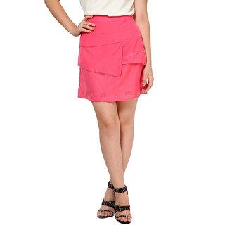 OVIYA Pink Viscose Voile Skirt