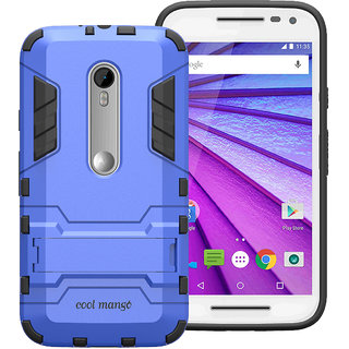 Cool Mango Shock Proof Case for Moto G (3rd Generation)-Blue