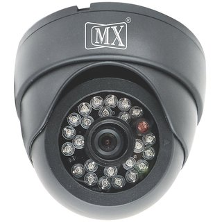 MX CCTV CAMERA 1/3 SONY 500TVL, 3.6mm LENS, PLASTIC DOME CAMERA, 24 IR LED, 20m DISTANCE, BLACK HOUSING - MX S 104