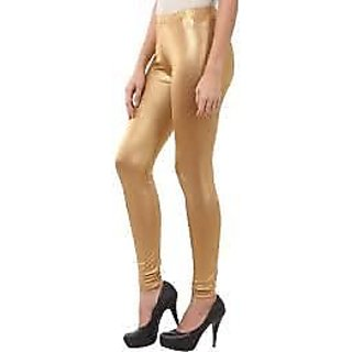 women leggings/ shimmer leggings/ golden leggings/ ladies shimmer legging