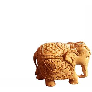Handicraft Wooden Elephant Carved