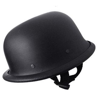 Hind German Style Open Face Bullet Helmet Matt Black Helmet