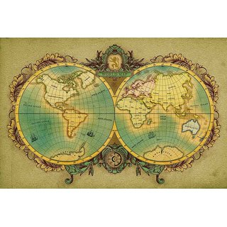 Buy walls and murals vintage world map globe canvas print no frame walls and murals vintage world map globe canvas print no frame 40 x 60 inch gumiabroncs Image collections