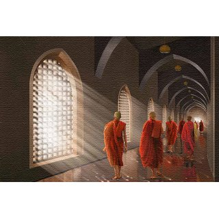 Walls and Murals -Monks in a MonasteryCanvas Print - No Frame (12 x 18 Inch)