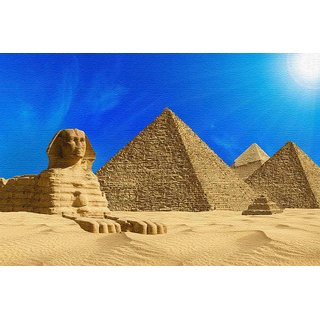 Walls and Murals -Egyptian Pyramids Canvas Print - No Frame (12 x 18 Inch)